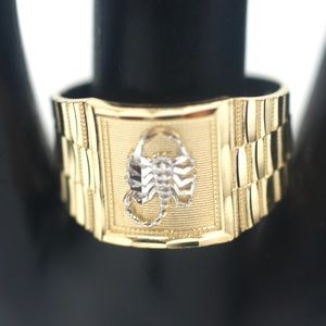 Other - NEW Solid 14k Gold Men's Ring with Scorpio Design